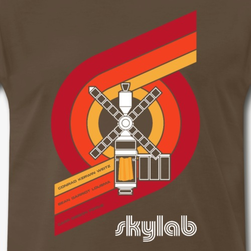 Skylab - America's Space Station (Large print) - Men's Premium T-Shirt