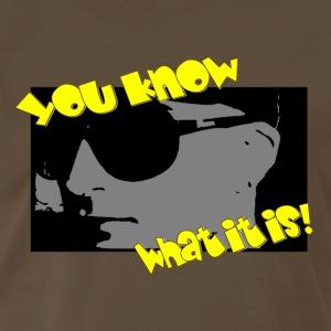 Mr. Brown and Yellow - Men's Premium T-Shirt