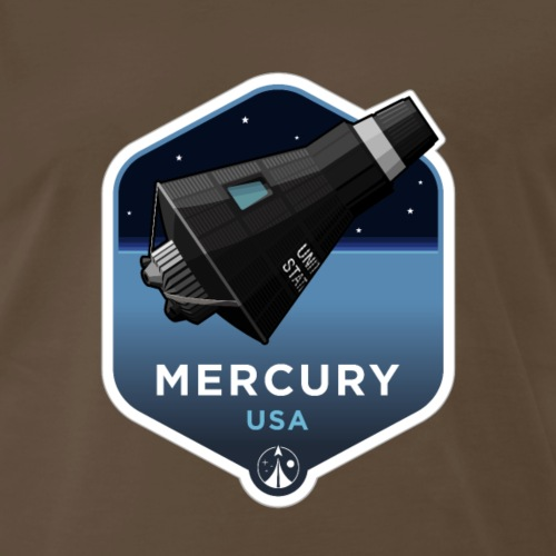 Space Race Series: MERCURY (Large print) - Men's Premium T-Shirt