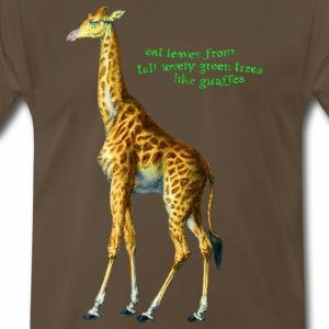 Eat Leaves Like Giraffes - Men's Premium T-Shirt