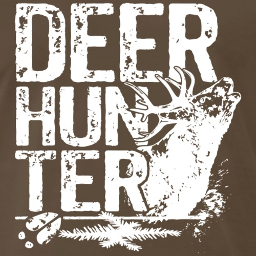 Huntershirt Deer Hunter white roebuck hunter - Men's Premium T-Shirt