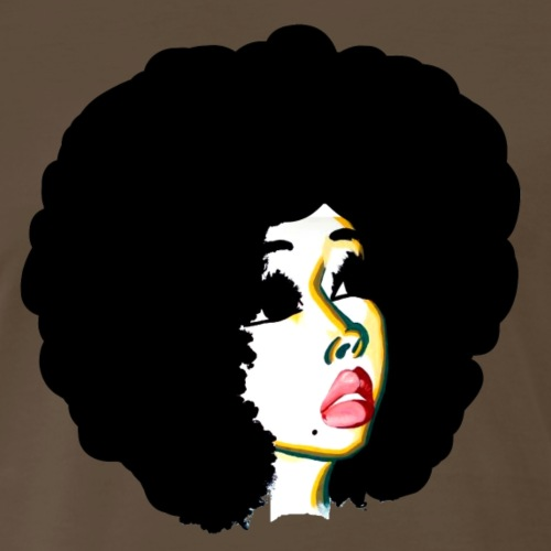 Afro Hair Look Beyond Your Future - Men's Premium T-Shirt