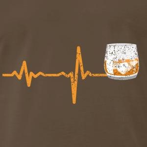 Heartbeat glass whiskey gift - Men's Premium T-Shirt