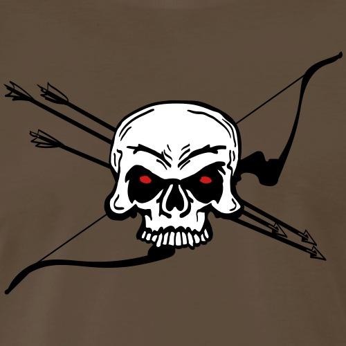 Skull 'n Bow (Archery by BOWTIQUE) - Men's Premium T-Shirt