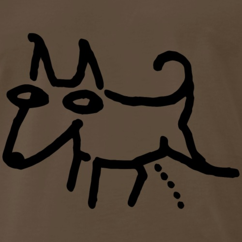 Peeing dog - Men's Premium T-Shirt