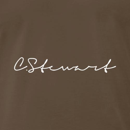 CSTEWART Signature WHITE - Men's Premium T-Shirt