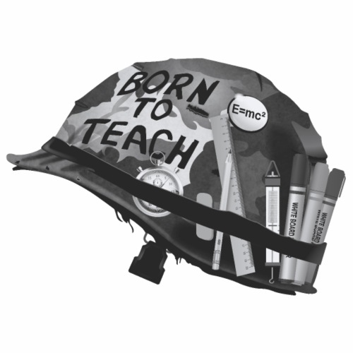 Born to teach science B&W - Men's Premium T-Shirt