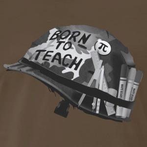 Born to teach mathematics B&W - Men's Premium T-Shirt