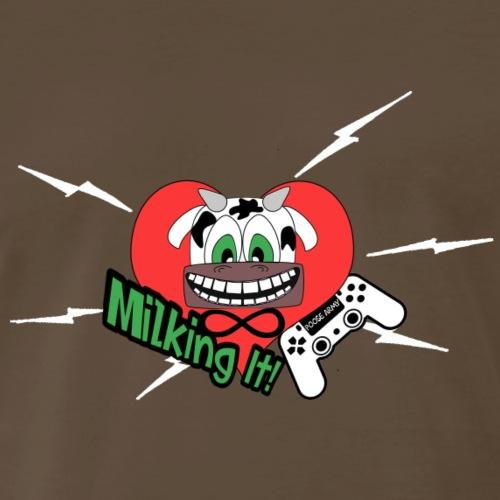 Milking it! w/ White lighting - Men's Premium T-Shirt