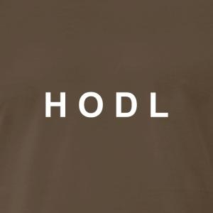 HODL white no line - Men's Premium T-Shirt