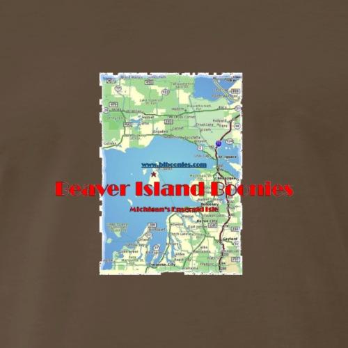 Beaver Island Map - Men's Premium T-Shirt