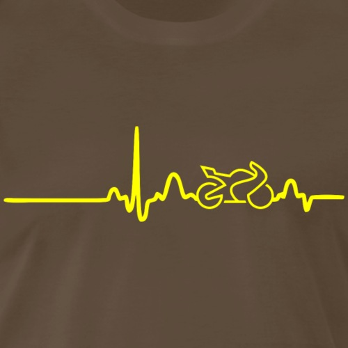 EKG HEARTLINE BIKE yellow - Men's Premium T-Shirt