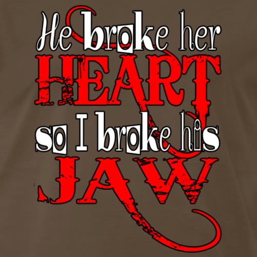 He broke her heart - Men's Premium T-Shirt