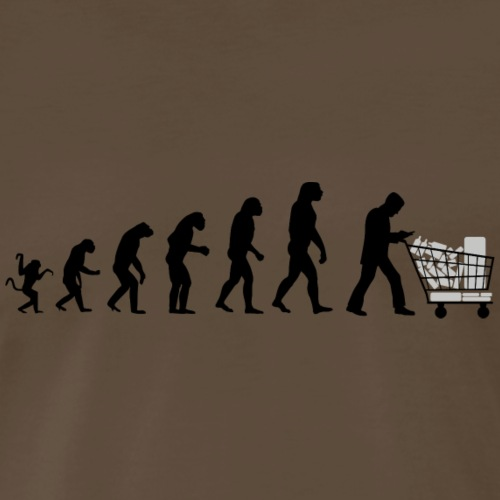 Evolution of man : just for that ! B - Men's Premium T-Shirt