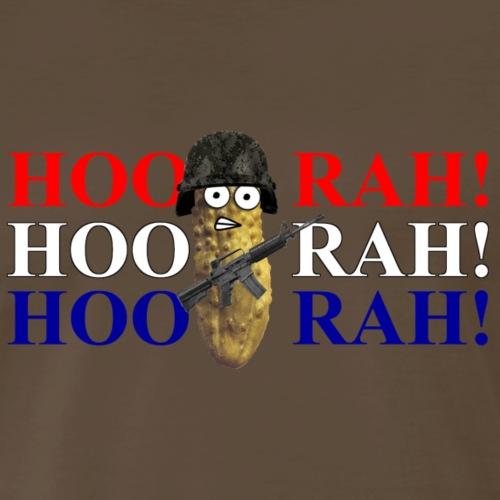 Combat Pickle HooRah r w b - Men's Premium T-Shirt