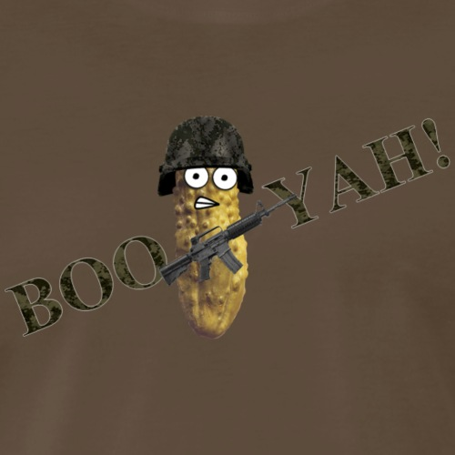 Combat Pickle booyah camo - Men's Premium T-Shirt