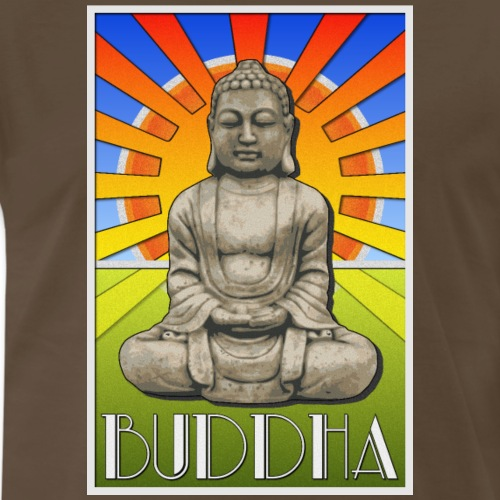 Buddha Art Deco Poster Style Design - Men's Premium T-Shirt