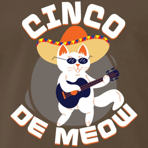 Cinco De Meow Funny Cat Cinco De Mayo T-Shirt - Men's Premium T-Shirt