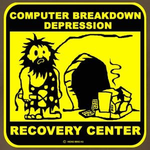 Computer breakdown depression recovery center T Sh - Men's Premium T-Shirt