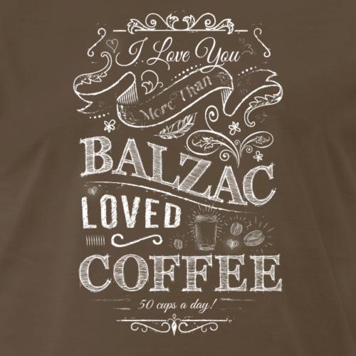 Balzac Loved Coffee - Men's Premium T-Shirt