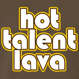 Hot Talent Lava - White Letters - Men's Premium T-Shirt