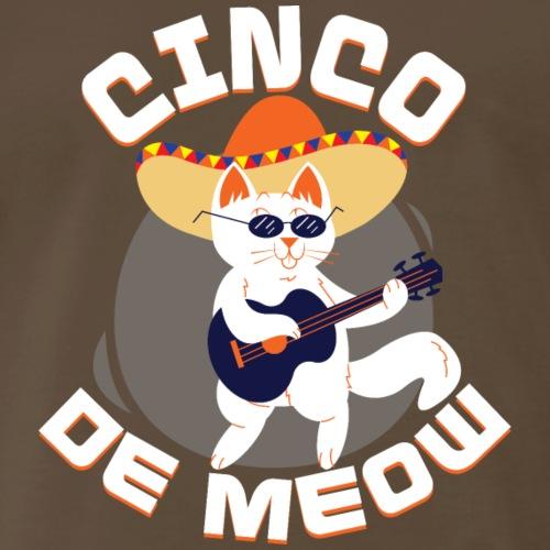 Cinco De Meow Funny Cat Cinco De Mayo T-Shirt - Men's Premium T-Shirt