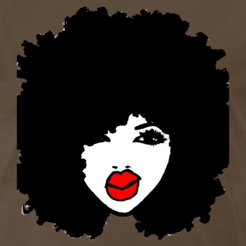 Afro Curly Hair Apparel RedLips Natural Hair Tees - Men's Premium T-Shirt