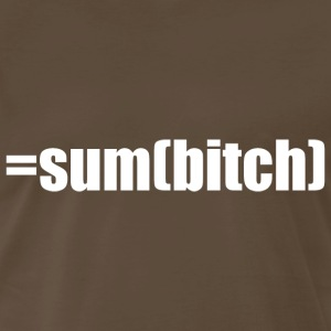 =sum(bitch) white - Men's Premium T-Shirt