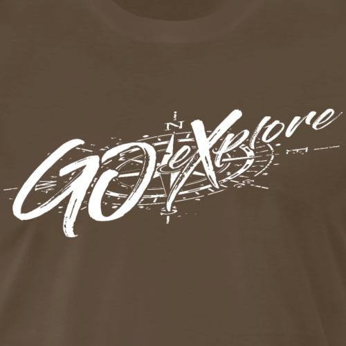 Go Xplore-wht - Men's Premium T-Shirt
