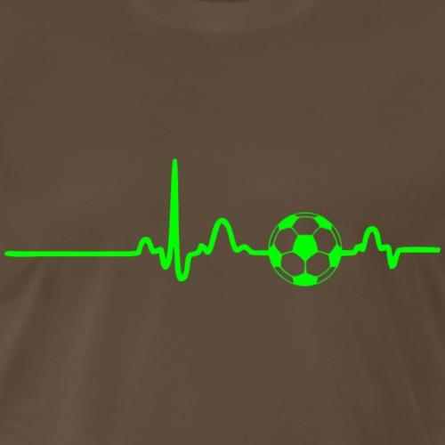 EKG HEARTBEAT SOCCER green - Men's Premium T-Shirt