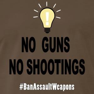 No Guns No Shootings - Men's Premium T-Shirt