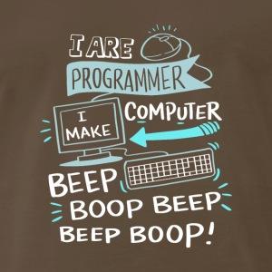 I are programmer. I make computer beep boop beep - Men's Premium T-Shirt