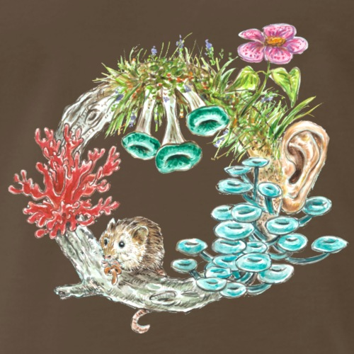mouse / tree /fungi /mushroom - Men's Premium T-Shirt