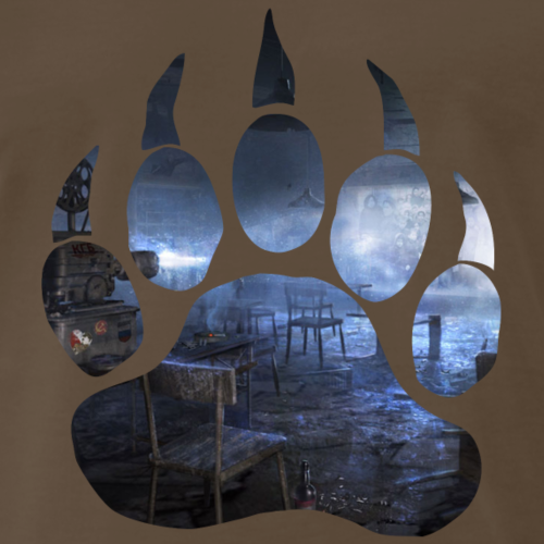 Lara Croft - Planning room - Men's Premium T-Shirt