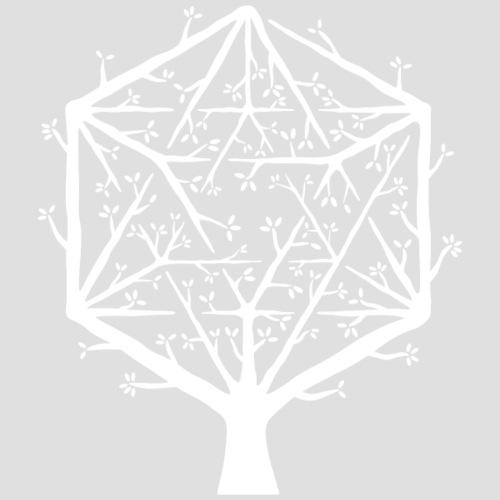 Geometree Icosahedron - White - Men's Premium T-Shirt