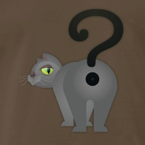 Curious Cat Butt - Men's Premium T-Shirt