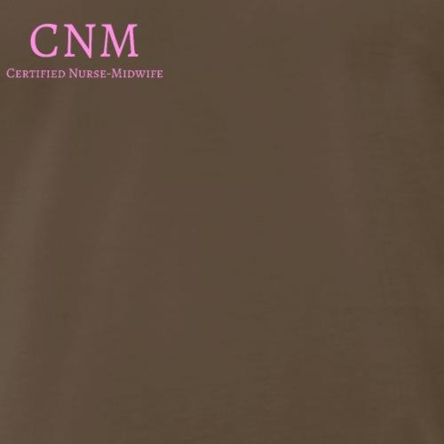 CNM Pocket Logo (Pink) - Men's Premium T-Shirt