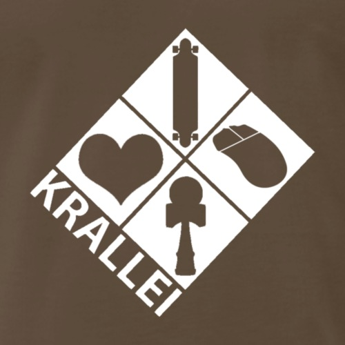 Basic White Krallei Logo - Men's Premium T-Shirt