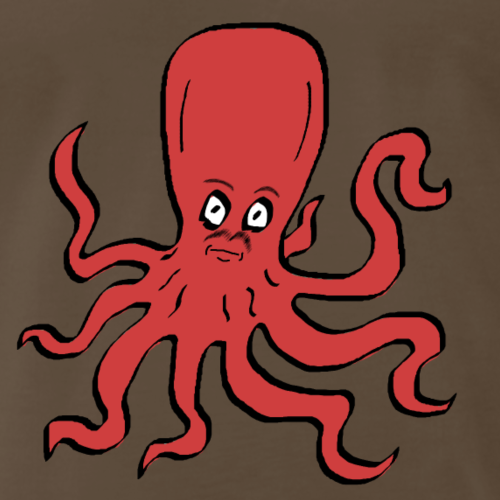 Octopus Red - Men's Premium T-Shirt