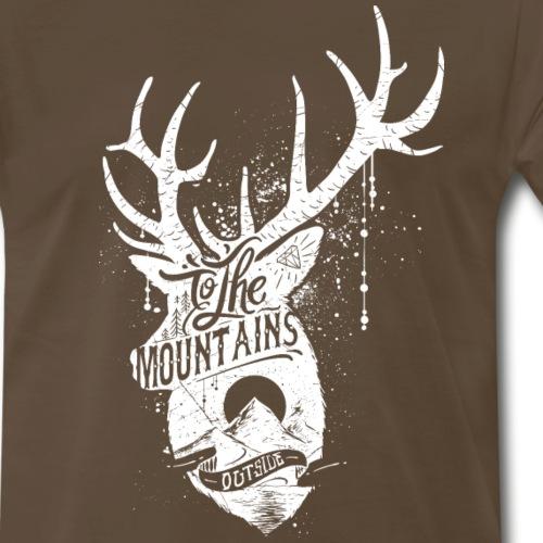 To the mountains outside - Men's Premium T-Shirt
