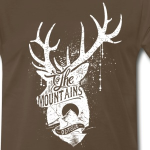To the mountains outside - Men's Premium T-Shirt