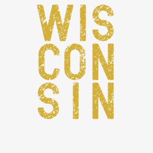 Yellow Distressed Wisconsin - Men's Premium T-Shirt