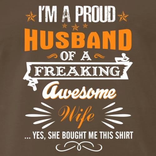 I'm a Proud Husband of a Freaking Awesom - Men's Premium T-Shirt