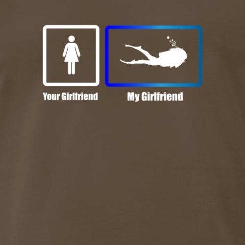 My Girlfriend Scuba diver - Men's Premium T-Shirt