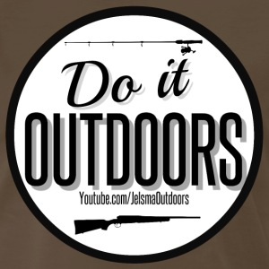 Do It Outdoors Vintage Inspired Logo - Men's Premium T-Shirt