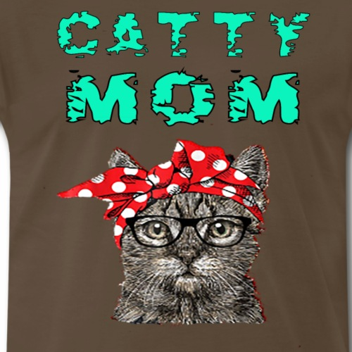 CAT MOM GIFT FUNNY COOL T SHIRT - Men's Premium T-Shirt