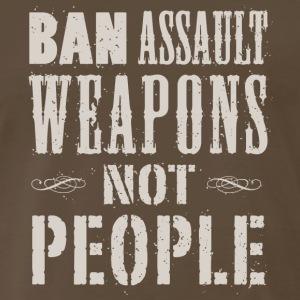 Ban Weapons NotPeople (light print) - Men's Premium T-Shirt