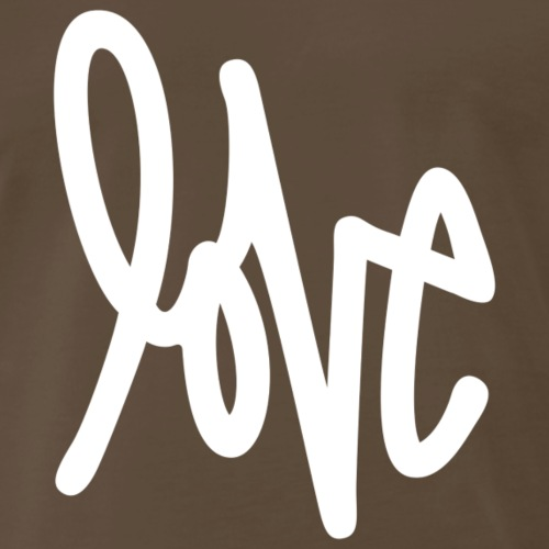 Love - Graffiti Design (White) - Men's Premium T-Shirt