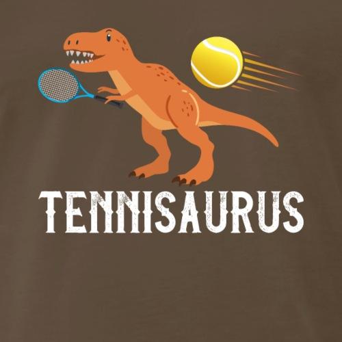 Tennis Dino Saurus Funny Dino - Men's Premium T-Shirt