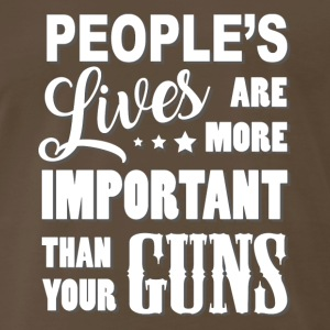 Peoples Lives are more important - Men's Premium T-Shirt